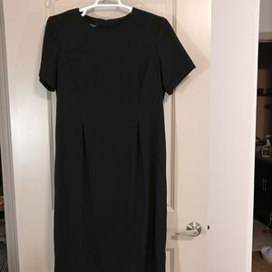 AGB vintage black fitted silhouette maxi dress